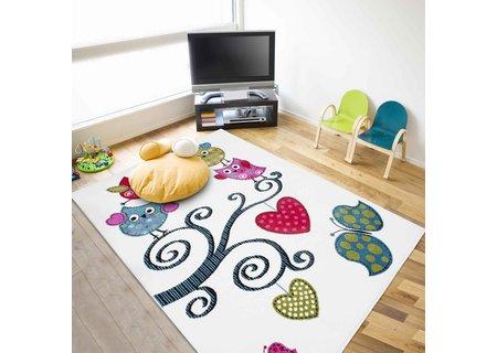 Kinderzimmer Teppich Eulen