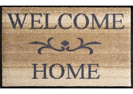 wash-and-dry Matte Welcome Home beige 050x075 cm