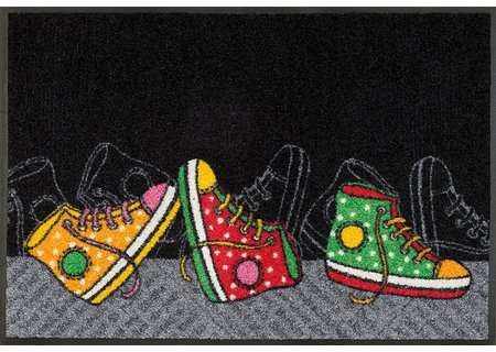 wash-and-dry Matte Happy Sneakers 050x075 cm