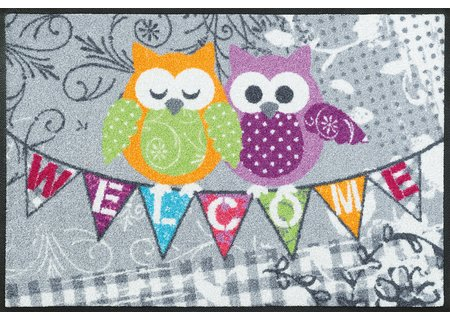 wash-and-dry Matte Welcome Owls 050x075 cm