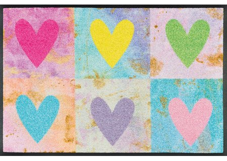 wash-and-dry Matte Candy Hearts 050x075 cm
