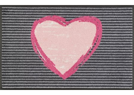 wash-and-dry Matte Rose Heart 050x075 cm