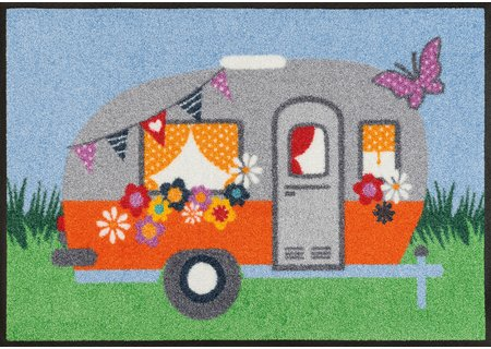 wash-and-dry Matte Happy Camping 050x075 cm