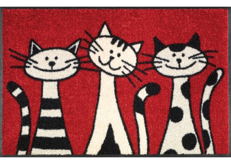 wash-and-dry Matte Three Cats 050x075 cm