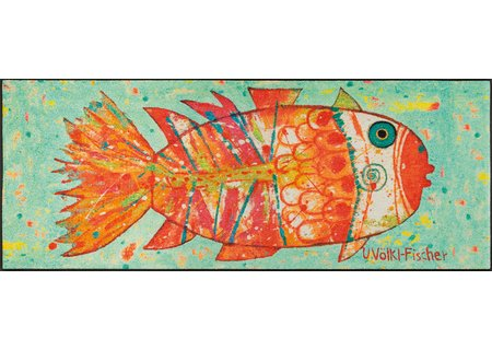 wash-and-dry Matte Funky Fish 075x190 cm