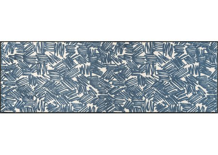 wash-and-dry Matte Urban Lines blue 060x180 cm