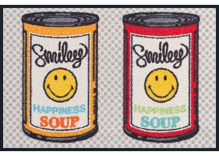 wash-and-dry Matte Smiley Happiness Soup