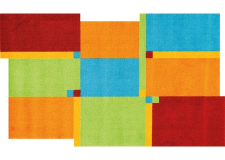 wash-and-dry Matte Living Squares multi